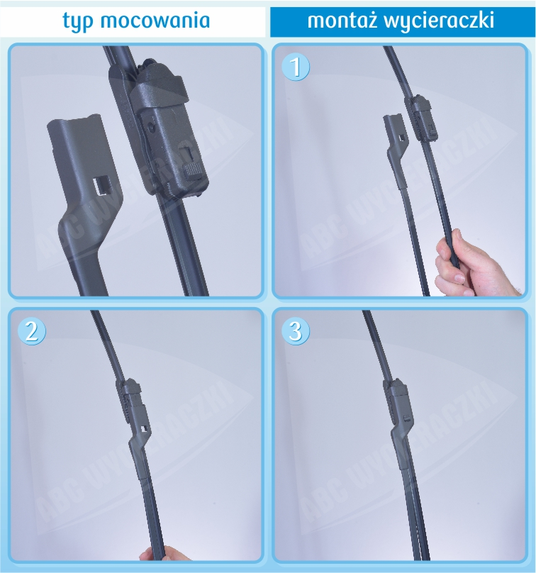 instrukcja montażu wycieraczki